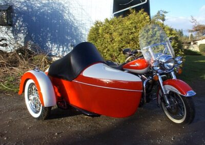 champion legend sidecar red